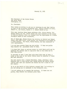 Letter from Pittsburgh Courier to President of the United States
