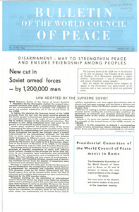Bulletin of the World Council of Peace No. 3