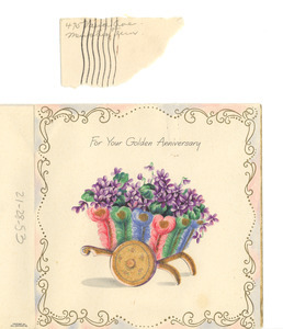 Anniversary card from B. F. and Florence C. J. Mc Cleave & son to W. E. B. and Nina Du Bois