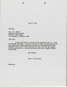 Letter from Mark H. McCormack to P. H. Giblin
