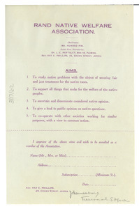 Aims and membership form