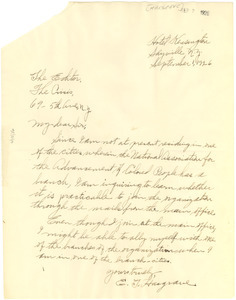 Letter from E. T. Hargrave to the editor of The Crisis