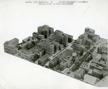 Boston City Hosptital, superintendent's residence, Nurses Home, and South Department