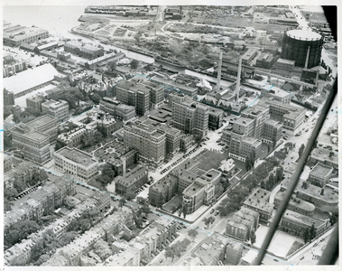 Main hospital right lower foreground, South Department for Contagious Diseases