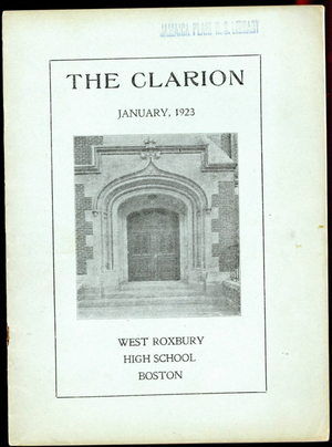 The Clarion Volume XII Number 1