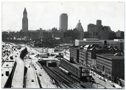 Boston skyline, including Custom House Tower and State Street Bank Building