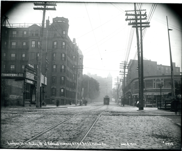 Looking west on Dudley Street at railroad crossing, New York-New Haven and Hudson River Railroad Midland Division