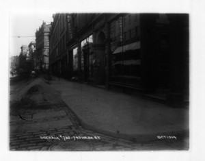Sidewalk 736-740 Washington St., east side, Boston, Mass., October 1904