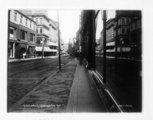 Sidewalk 756 Washington Street, east side, sec.1, Boston, Mass., October 1904