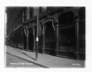 Sidewalk 76-88 Washington St., east side, sec.8, Boston, Mass., November 12, 1905