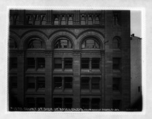 Court Street side of Ames Building from roof of Sears Building, Court and Washington Streets, Boston, Mass., June 11, 1902