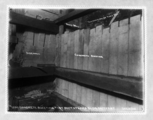 Concrete sheeting test section at Ames Building, Sec F EBT, Boston, Mass., December 27, 1902