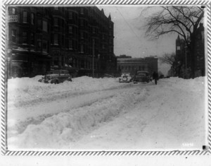Blizzard, Boylston Street, looking toward Copley Square, Boston, Mass., February 15, 1940