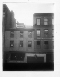 Buildings above Lagrange St. entrance, to Washington Street tunnel, Boston, Mass., ca. 1908
