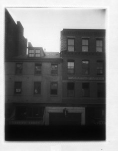 Buildings above Lagrange St. entrance to Washington Street tunnel, Boston, Mass., ca. 1908