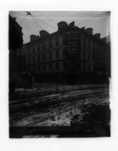 Easterly side of Washington St. south corner of Essex St., Boston, Mass., January 6, 1905