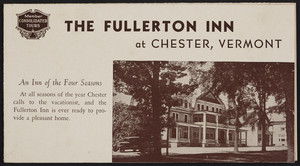 Brochure for The Fullerton Inn, Chester, Vermont, 1930s