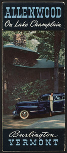 Brochure for the Allenwood Inn, U.S. Route 7, Burlington, Vermont, 1950s