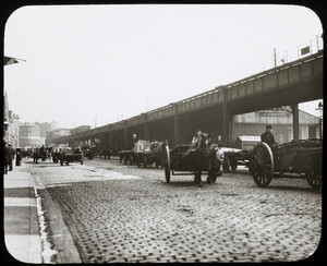 Horse-drawn freight vehicles, location unknown