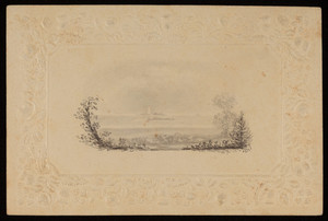 "Sketch: ""View of the Lighthouse in Boston Harbour from the house of Josiah Quincy Esq. at Quincy"""