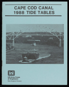 """Cape Cod Canal 1988 Tide Tables"""