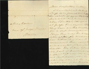 Letter to Eliza Susan (Morton) Quincy from Nelly Custis Lewis
