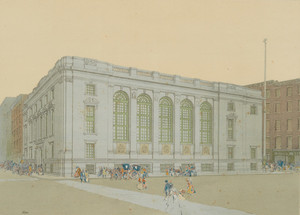 Drawing of the First National Bank Building, Boston, Mass.