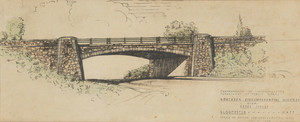 Drawing of Northern Circumferential Highway over Essex St., Gloucester, Mass., 1945