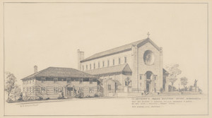 Drawing of St. Anthony's Parish Buildings, Revere, Mass., undated