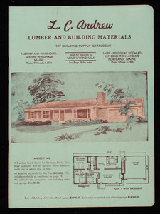 1957 building supply catalogue, L.C. Andrew lumber and building materials, L.C. Andrew, South Windham, Maine
