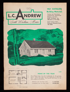 1967 catalog, building materials, L.C. Andrew, South Windham, Maine
