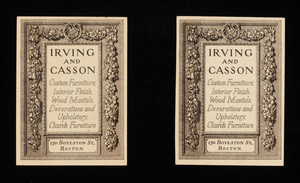 Pamphlet -- Irving & Casson - A. H. Davenport Company