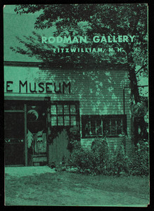 Brochure for the Rodman Gallery, Fitzwilliam, New Hampshire, undated