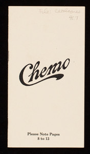Chemo, manufacturers of insecticides and disinfectants, Chemo Company, Buffalo, New York