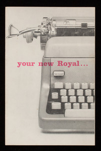 Your new Royal, Royal McBee Corporation, Westchester Avenue, Port Chester, New York