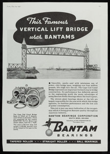 "Advertisement, ""This Famous Vertical Lift Bridge uses Bantams,"" Time, May 24, 1937"