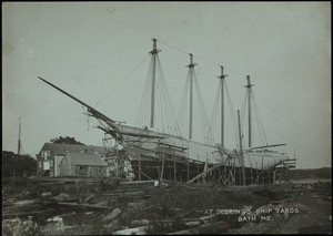 The Elisha Atkins at Deering's Shipyards, Bath, Maine