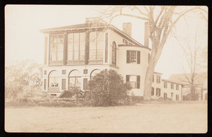 Postcard of exterior view of Castle Tucker, Maine