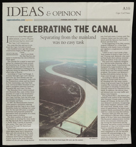 """""""Celebrating the Canal,"""" Cape Cod Times, July 16, 2009"""