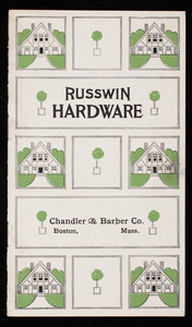 Russwin Hardware, Russell & Erwin Mfg. Co., New Britain, Connecticut
