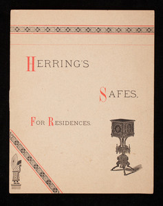 Herring's safes for residences, Herring & Co., manufacturers, Nos. 251 and 252 Broadway, New York, New York