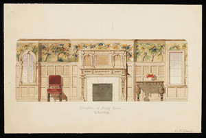 """Watercolor -- """"Elevation of Dining Room"""""""