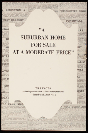 Suburban home for sale at a moderate price, S.D. Warren Company, 101 Milk Street, Boston, Mass., undated