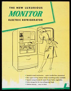 New luxurious Monitor Electric Refrigerator, Monitor Home Appliances, General Electric Company, Louisville, Kentucky, 1950s