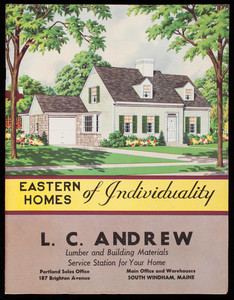 Eastern homes of individuality, National Plan Service, Inc., Chicago, Illinois,1948