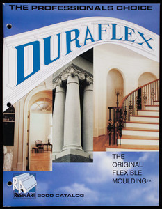 Duraflex, the original flexible moulding, ResinArt 2000 catalog, ResinArt East, Inc., 17 Continuum Drive, Fletcher, North Carolina