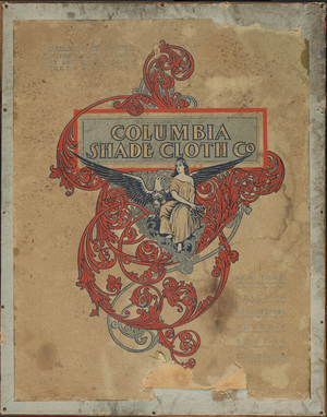 Columbia Shade Cloth Co., fringe, lace and insertion catalogue 1903, corner 17th Street & Broadway, New York, New York