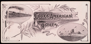Ticket folder for Cook's American Tours, 245 Broadway, Thomas Cook & Son, New York, New York