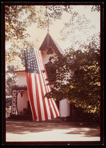 Fourth of July flag, Roseland Cottage