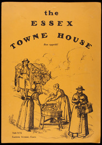 Essex Towne House, menu, Eastern Avenue, Essex, Mass.